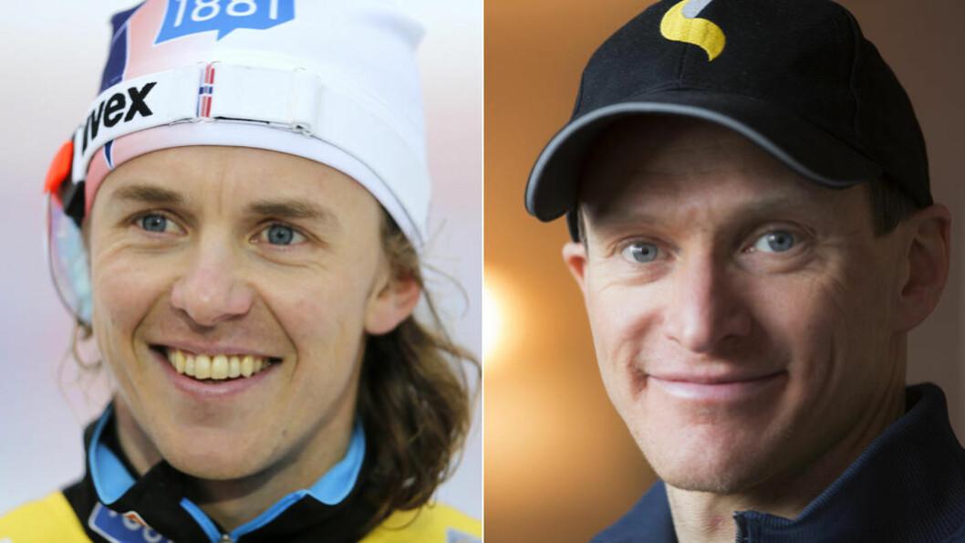 <strong> EN FÅR GÅ:</strong>  Kombinertledelsen har tatt ut tre løpere til fredagens kombinert. Den siste plassen går enten til Mikko Kokslien (t.v) eller Håvard Klemetsen. Foto: NTB Scanpix.