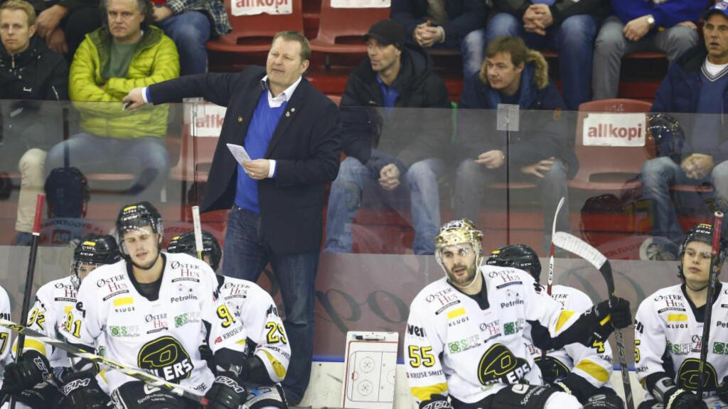 KAN AVGJØRE HJEMME:  Lørdag møter Stavanger Oilers serietoer Storhamar på hjemmebane. Tre poeng vil sørge for at Oilers er seriemester.  Foto: Heiko Junge / NTB scanpix