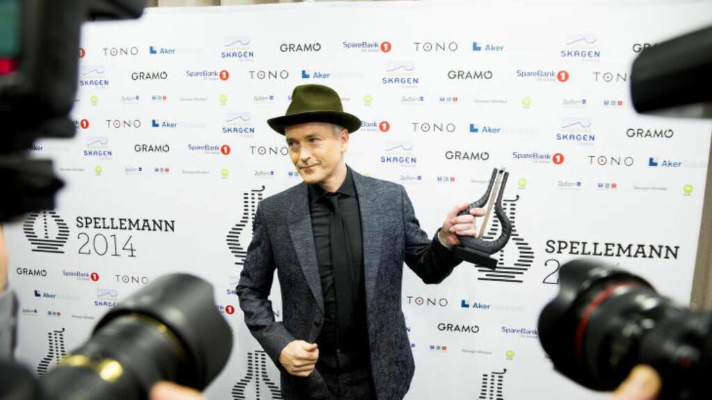 FIKK TYN: Spellemannjuryen ga Morten Abel hedersprisen - det var det mange som mente han ikke fortjente. Foto: Bjørn Langsem