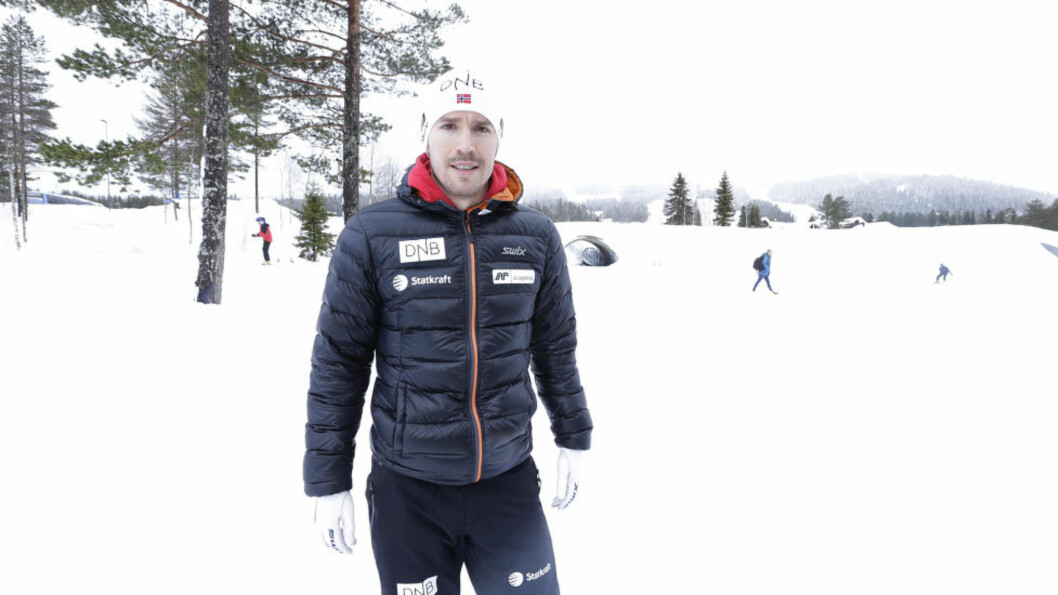 <strong>DROPPER:</strong> Emil Hegle Svendsen går ikke mixed-stafetten under VM i Kontiolahti. Her på Trysil i dag. Foto: Vidar Ruud / NTB Scanpix