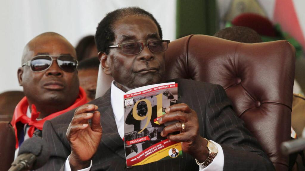 STORSLÅTT FEIRING: Zimbabwes president Robert Mugabe feiret 91-årsdagen sin lørdag. Foto: Philimon Bulawayo / Reuters / NTB scanpix