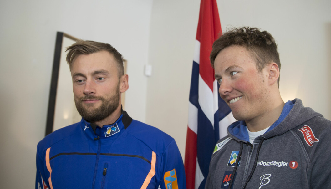 <strong>NÆRT FORHOLD:</strong> Petter Northug og Emil Iversen håper å gå VM-stafettene sammen i Lahti. Foto: Terje Pedersen / NTB scanpix