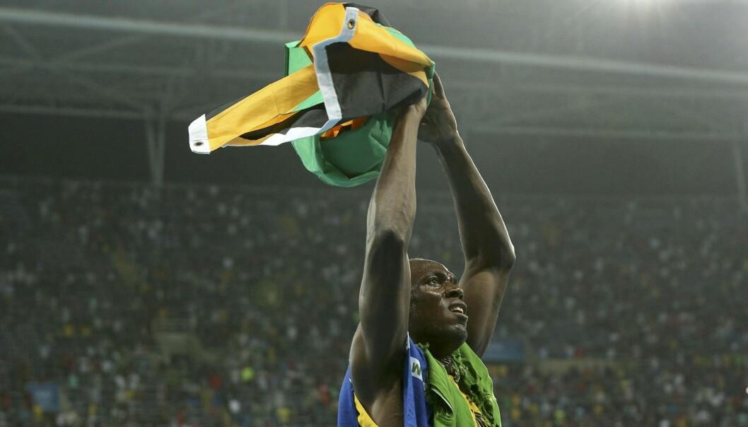 <strong>VANT IGJEN:</strong> Usain Bolt vant sitt niende OL-gull totalt i natt. Foto: REUTERS/Stoyan Nenov