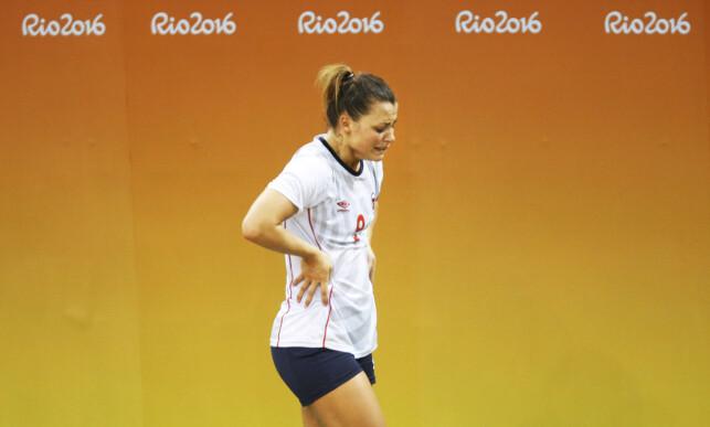 KNUST: Nora Mørk etter tapet mot Russland i semifinalen i OL. Det var hennes forrige møte med russerne. Foto: Erik Johansen / NTB scanpix