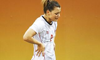 NEDTUREN: Nora Mørk sier hun fortsatt ikke har kommet over OL, som hun kaller en stor nedtur. Foto: Erik Johansen / NTB scanpix