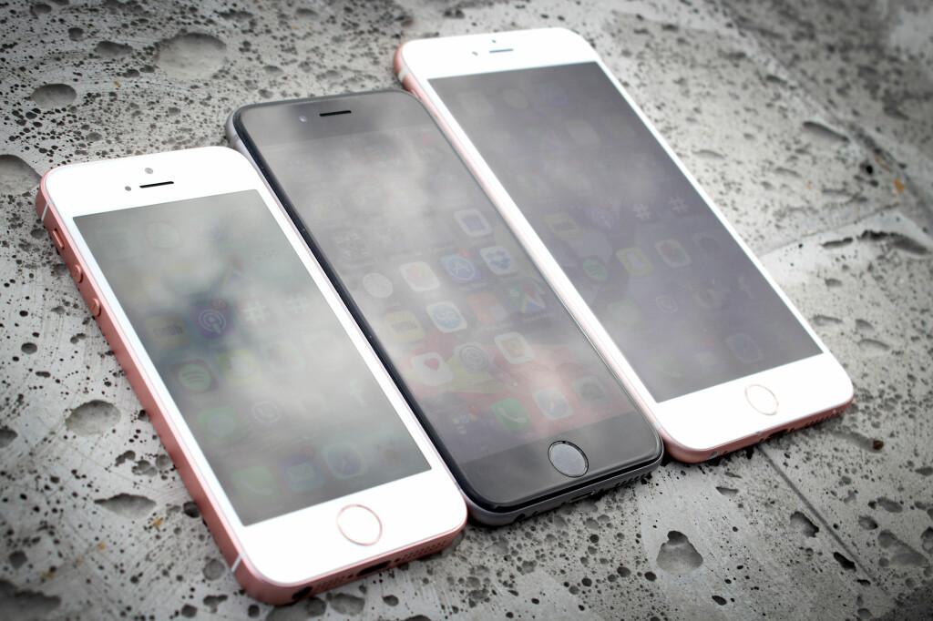 STOR SKJERM ER OGSÅ BRA: Du kan være mer produktiv på en av de større iPhonene. Foto: OLE PETTER BAUGERØD STOKKE
