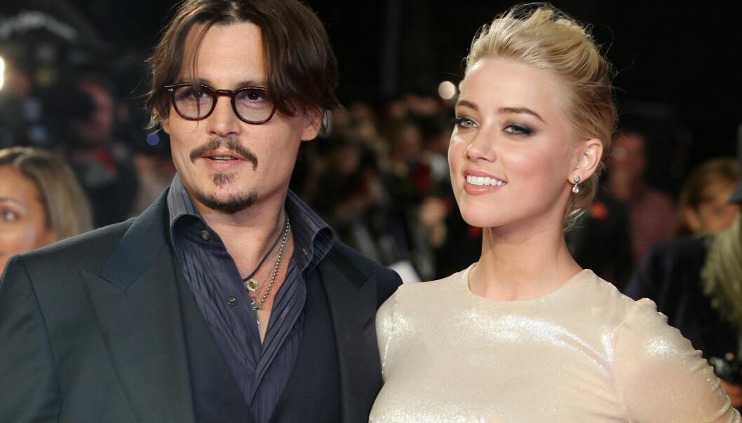 SKILT ETTER 15 MÅNEDER: Skuespiller Amber Heard og Johnny Depp giftet seg i februar 2015, men ekteskapet varte ikke lenge. Her er paret avbildet sammen på en galla i januar 2016. Foto: Pa Photos