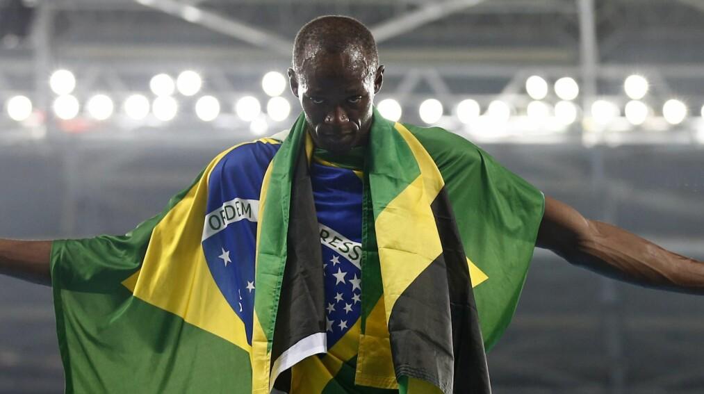 <strong>LEGGER OPP:</strong> Usain Bolt bekreftet onsdag at han gir seg etter VM i London. Her under OL i Rio i fjor. Foto: Yoan Valat / EPA / NTB Scanpix