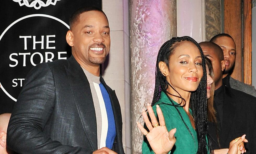 IKKE BARE LYKKE: Jada Pinkett Smith og ektemannen Will Smith har flere ganger gått i parterapi, sier Will Smith i et intervju med The Sun.&nbsp;Foto: NTB Scanpix / Jack Shea/Starshots/Broadimage<br><p><br>   </p>
