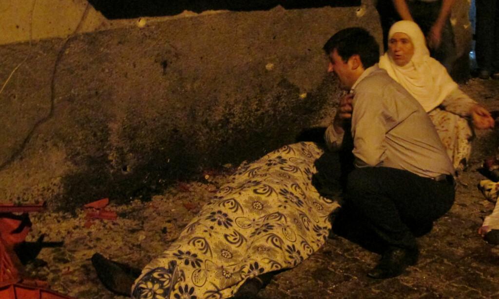 TERRORANGREP: Åtte mennesker skal være drept etter et terrorangrep mot en bryllupsfest i Gaziantep i Tyrkia. Foto: Ihlas News Agency via REUTERS / NTB scanpix