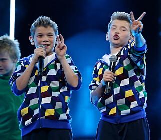 STARTET HER: I 2012 vant gutta barneutgaven av Melodi Grand Prix, noe som straks åpnet mange dører for dem. Nå er de to av landets bestselgende artister. Foto: Håkon Mosvold Larsen / NTB scanpix