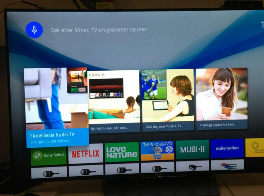 Sony med Google Android TV Foto: BJØRN EIRIK LOFTÅS