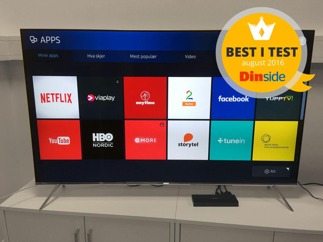 <strong><B>BEST I TEST</B>:</strong> Samsung har den beste TV-en i denne trippeltesten. Foto: BJØRN EIRIK LOFTÅS