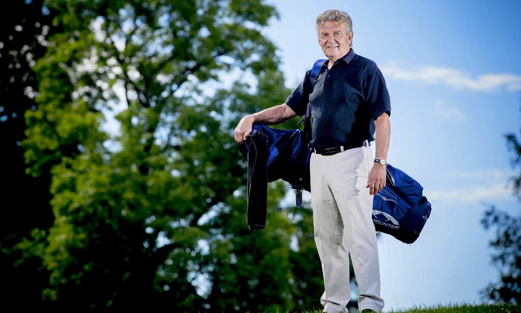 SPREKING: Kjell Kaspersen er blitt 77 år, men holder seg i form med golfen. Han går 18 hull opp til fem ganger i uka. Foto: Bjørn Langsem / Dagbladet