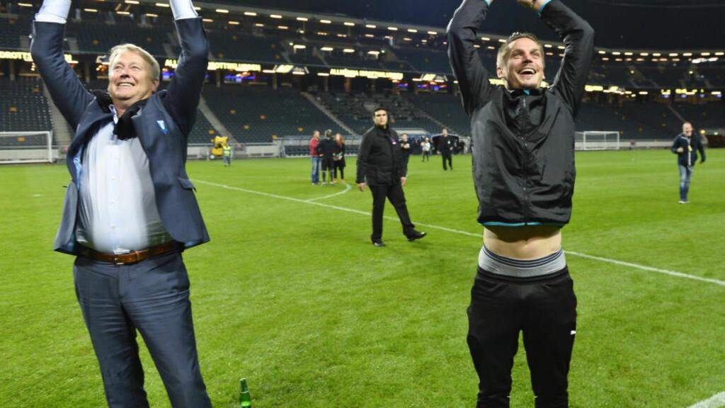 ÅRETS TRENER: Åge Hareide har ledet Malmö til seriegull og gruppespillet i Champions League. Det fikk han prisen for årets trener i Allsvenskan for. Foto: Anders Wiklund / TT / NTB scanpix