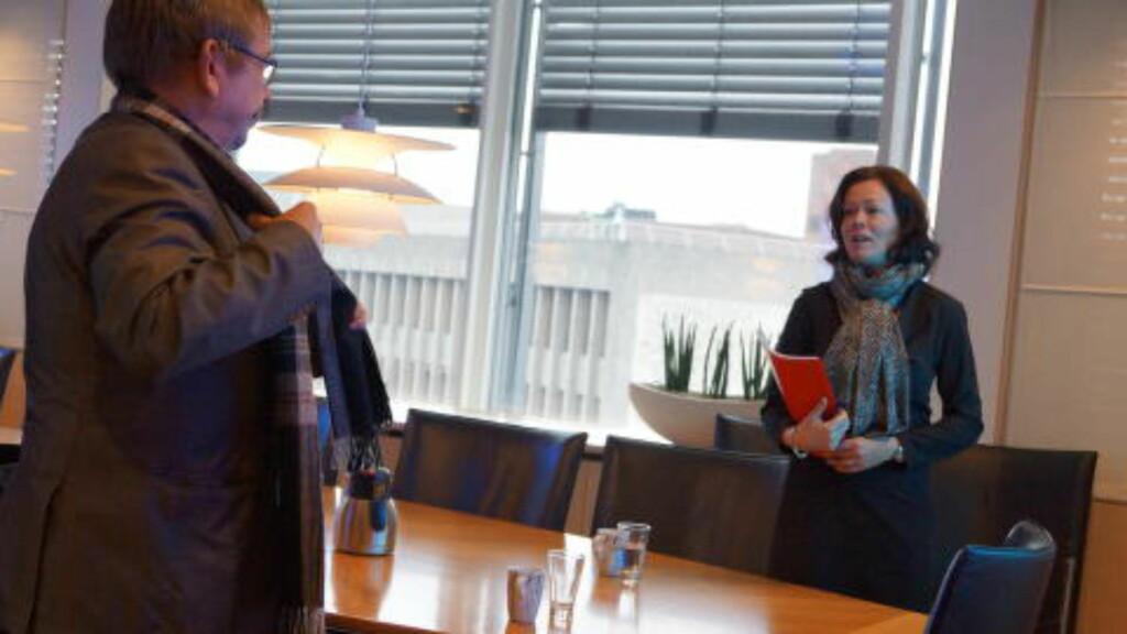 MØTTE HORNE:  Rokstad opdaget først for et par uker siden at loven han hadde kjempet for frem til 2001 i fjor hadde blitt endret. Fredag møtte han barne- og familieminister Solveig Horne.