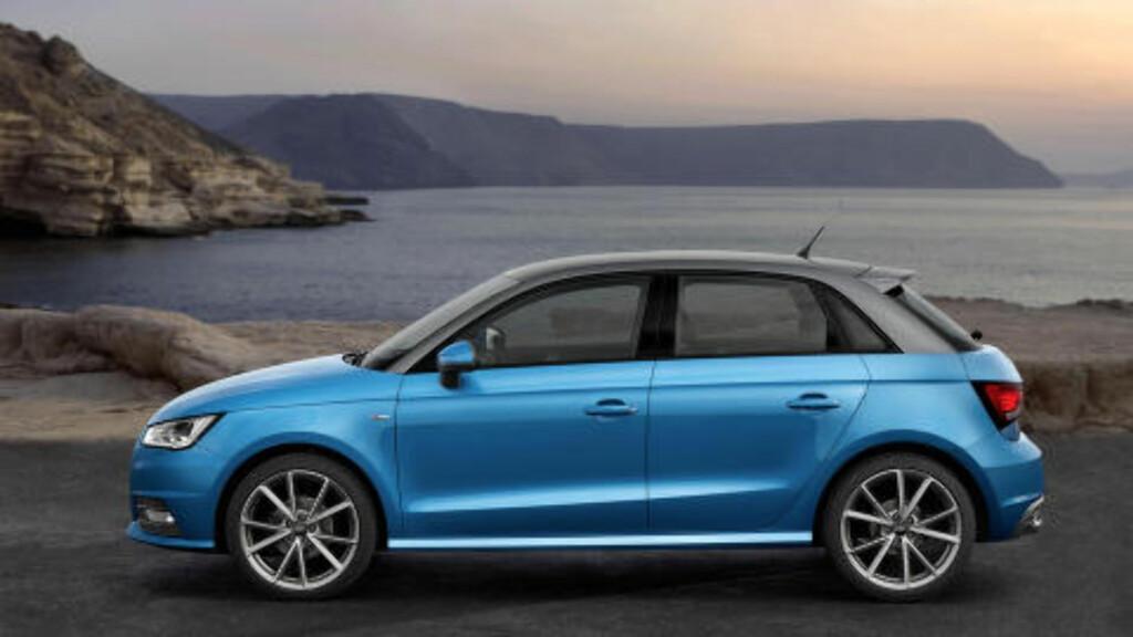FEM DØRER: I Norge ble det først fart i salget da bilen kom i femdørs utgave. Foto: AUDI