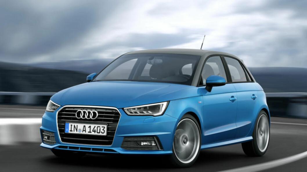 <strong>OPPGRADERT:</strong> Audi A1 ser litt mer tidsriktig ut, men det er under panseret de viktigste endringene har skjedd. Foto: AUDI