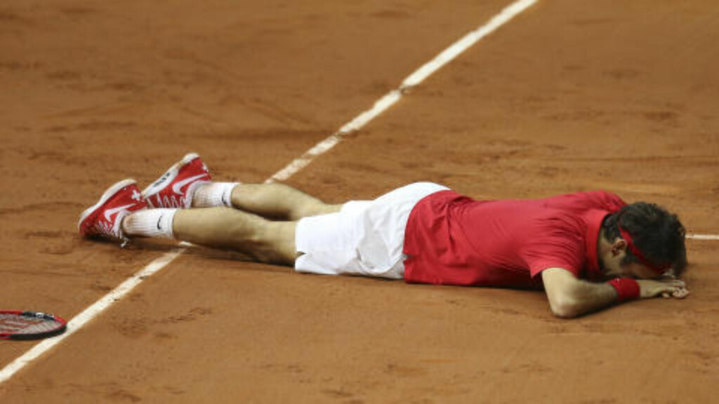 RØRT: Roger Federer. Foto: AP Photo/Peter Dejong