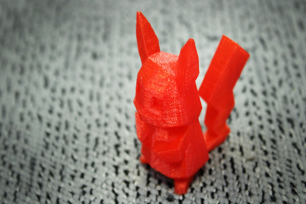 <strong><b>PIKA, PIKA:</strong> </B>Her er den vesle krabaten Pikachu fra Pókemon (GO). Det tok under en time, så å printe dem alle er kanskje ikke komplett umulig.  Foto: OLE PETTER BAUGERØD STOKKE