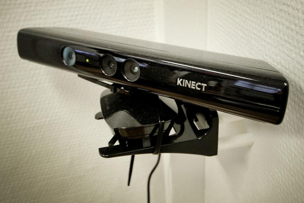 <strong><b>KINECT:</strong></b> Kinect er kanskje best kjent fra Xbox, hvor det brukes til å registrere bevegelse. Foto: OLE PETTER BAUGERØD STOKKE