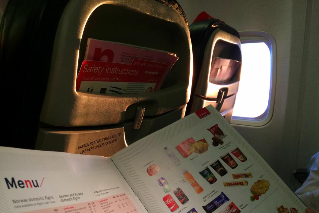<strong><b>LITE Å TILBY:</strong></b> Det vil ikke bli mat å få kjøpt på Norwegians kortdistanseflyvninger eller innenlands. Foto: KRISTIN SØRDAL