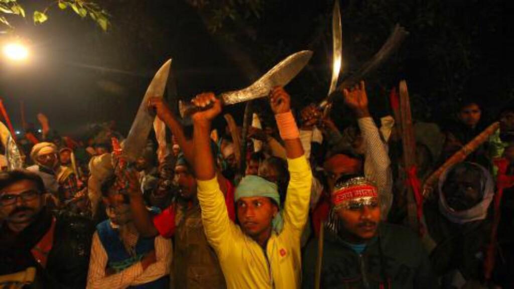 VERDENS STØRSTE: Hindu-festivalen er den største rituelle ofringen av dyr i verden. Foto: AP Photo/Sunil Sharma