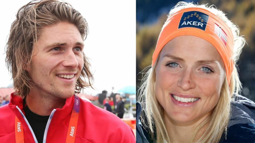 SPORTSLYKKE: Nils Jakob Hoff og Therese Johaug er toppidrettsnorges nye superpar. Foto: NTB Scanpix