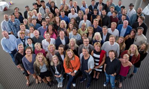 PROFILENE: Mange av de kjente ansiktene som dukker opp på TV 2 denne høsten var tilstede under årets høstlansering i Bergen. Foto: Eivind Senneset / Dagbladet
