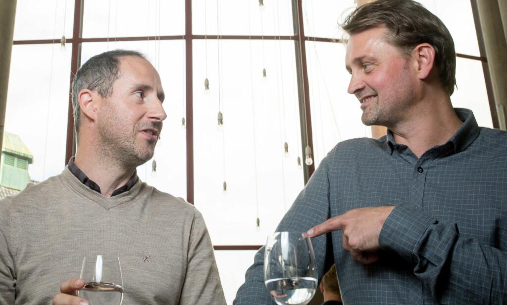 GLEDER SEG: Harald Rønneberg og Thomas Numme ser fram til sin 27. sesong med «Senkveld». Foto: Eivind Senneset / Dagbladet