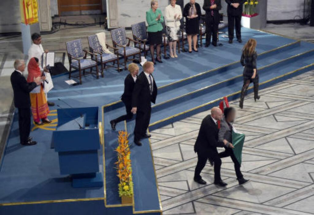 SEREMONI: Seremonien fortsatte som planlagt. Foto: Hans Arne Vedlog  / Dagbladet