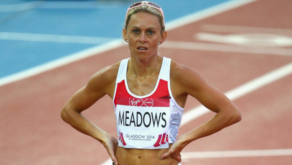 FIKK ALDRI FEIRET GULLET. Jenny Meadows ble frarøvet muligheten til å stå øverst på seierspallen og høre sin egen nasjonalsang. Russiske juksere sørget for det. Foto: GETTY IMAGES.