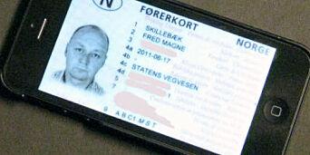 image: Her har de førerkortet på mobilen
