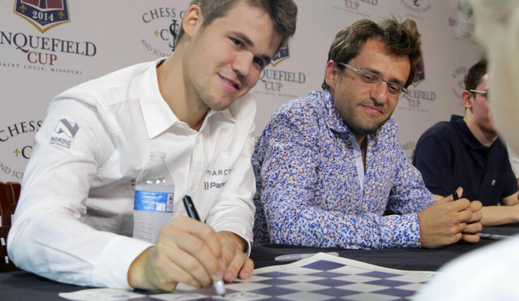 SIGNERER: Magnus Carlsen er klar for VM-kamp i Sotsji i november. Foto:Photo by Tom Gannam/Invision for Chess Club and Scholastic Center of St. Louis/AP Images