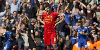 image: - Dette skal f*en ikke glippe, sa Gerrard. Senere gjorde han en feil som kan ha kostet Liverpool seriegullet