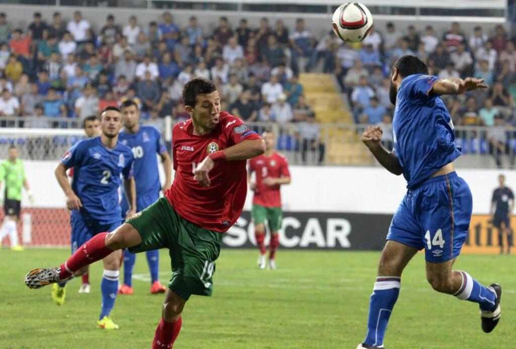 SEIRET:  Bulgaria slo Aserbajdsjan på bortebane i Norges gruppe. Foto: AFP PHOTO / TOFIK BABAYEV