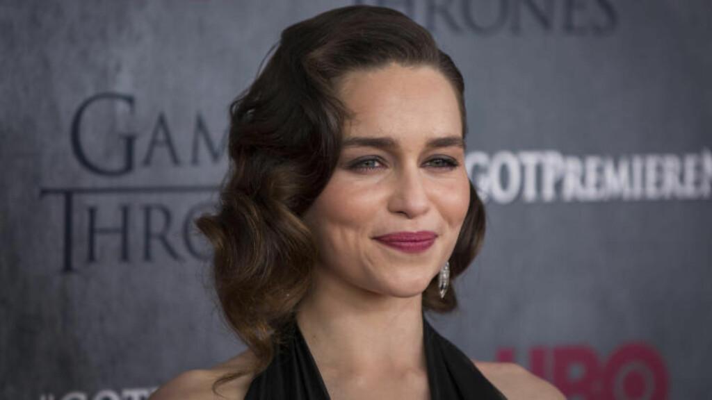 NY HOVEDROLLE: Emilia Clarke, mest kjent fra rollen som Daenerys i «Game of Thrones», har fått rollen som Lou Clark i filmatiseringen av bestselgerromanen «Et helt halvt år». Foto: NTB SCANPIX / REUTERS/Lucas Jackson