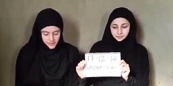 image: Italienske Greta og Vanessa holdes som gisler i Syria: Dukket opp i video