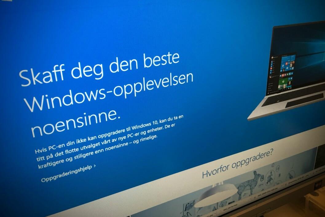 <strong><strong>SNART SLUTT:</strong></strong> Du kan fortsatt oppgradere gratis til Windows 10, men 29. juli er det slutt på tilbudet. Foto: PÅL JOAKIM OLSEN