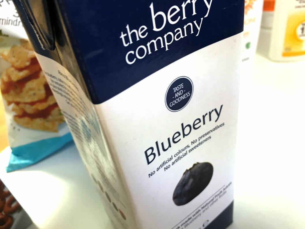 <b>BLÅBÆRJUICE?</b> Blåbærjuice med 2 prosent blåbær? Er det lov? Spør Flesland. Foto: KRISTIN SØRDAL