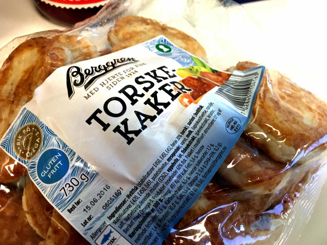 <b>TORSKEKAKER?</b> Kan de kalle det torskekaker når det kun er 20 prosent torsk? Foto: KRISTIN SØRDAL