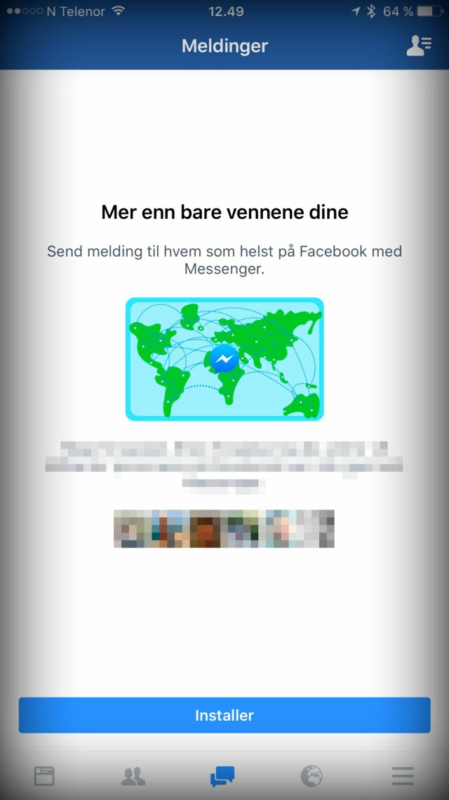 643e4379d Facebook tvinger mobilbrukere over på Messenger-appen - DinSide