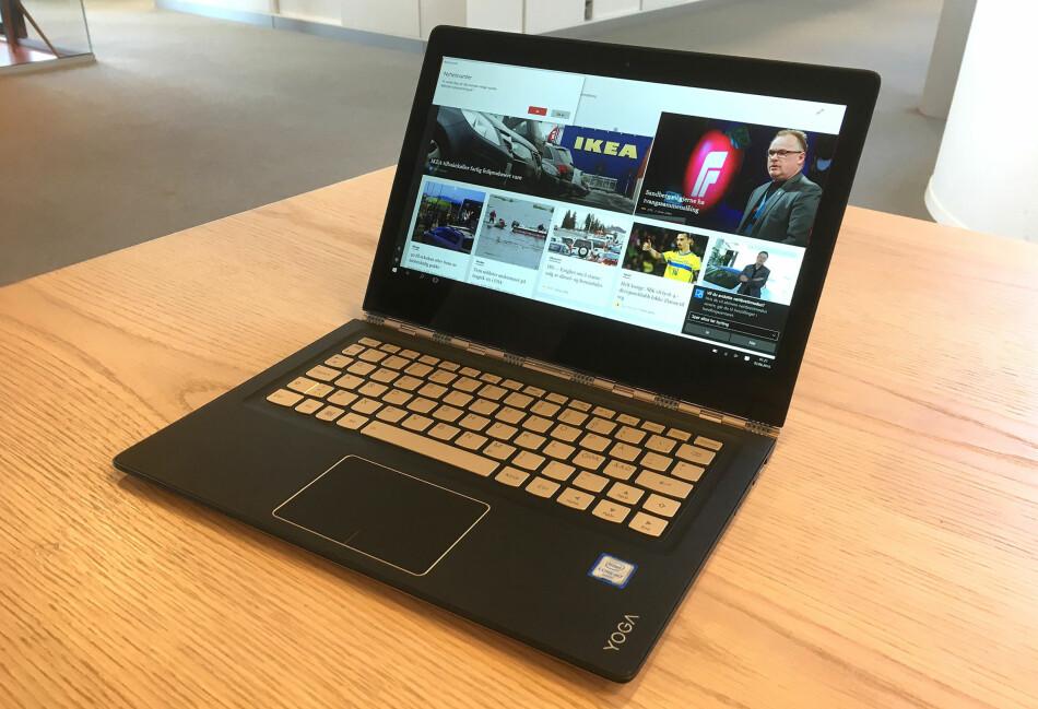 <B>PC-MODUS</B>: Vi tror de fleste vil bruke 900S mest i PC-modus. Det er det mange gode grunner til, men den innbyr også til bruk som nettbrett. Foto: BJØRN EIRIK LOFTÅS