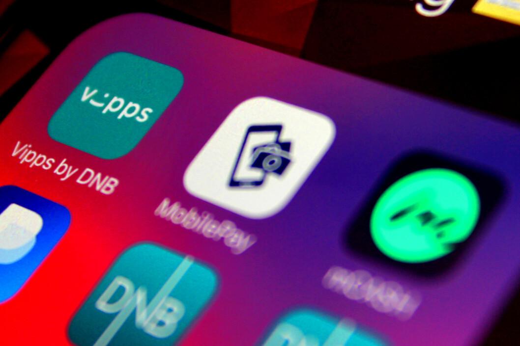 <strong><b>KJAPT OG ENKELT:</strong> </B>Mobilbetalingsappene Vipps, MobilePay og mCash egner seg best for raske og mindre betalinger. Beløpsgrenser og gebyrer gjør nettbanken bedre for de større kjøpene. Foto: OLE PETTER BAUGERØD STOKKE