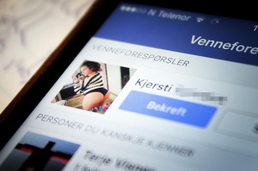 <b>FRISTER MED HUD: </B>Mange av de falske Facebook-profilene er av det motsatte kjønn. Menn blir lokket med lettkledde kvinner, mens kvinner blir lokket med politimenn og millitære.  Foto: OLE PETTER BAUGERØD STOKKE