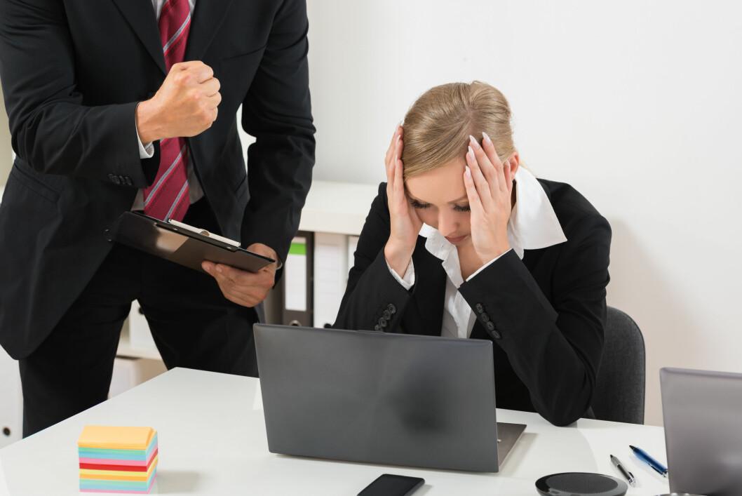 <b>SINNA SJEF?</b> Sjefen din kan ikke oppføre seg som han eller hun vil, slår arbeidsmiljøloven fast. Foto: SHUTTERSTOCK/NTB SCANPIX