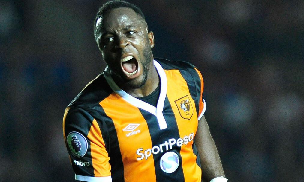 <strong>GLOHET:</strong> Adama Diomandé har hatt en god sesongstart for Hull i Premier League. Foto: NTB Scanpix