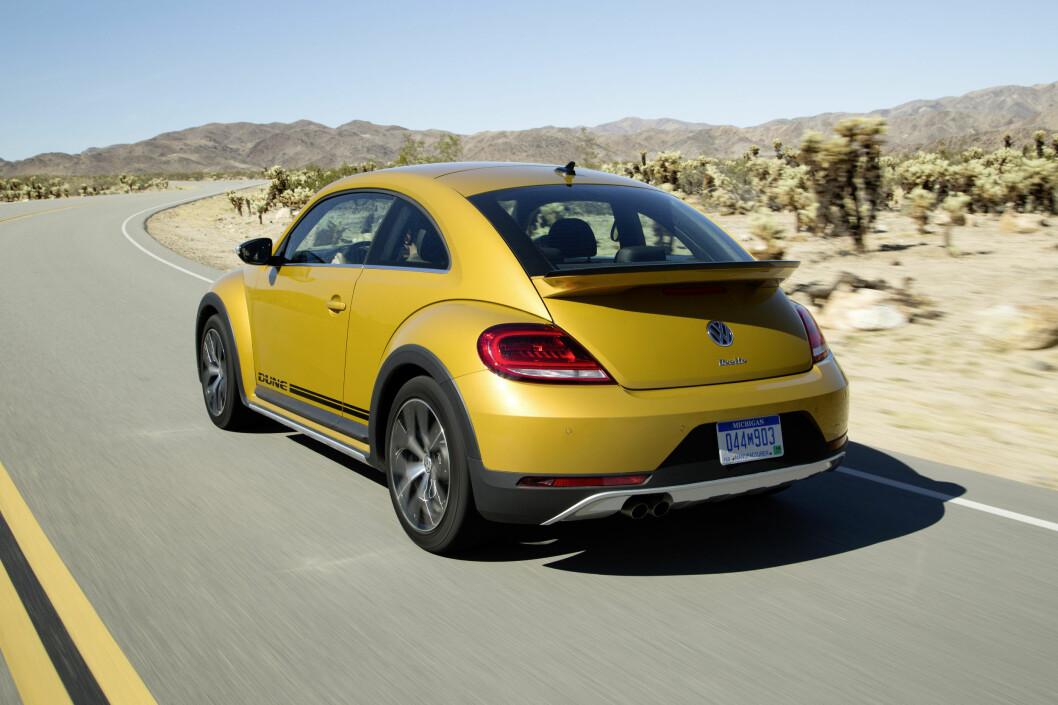 <strong><b>OMVENDT:</strong></b> Både Beetle og Beetle Dune har motor og drivhjul foran og bagasjerommet bak - på den opprinnelige Bobla var det omvendt. Foto: VOLKSWAGEN