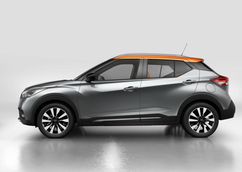 TIDSRIKTIG: Kompakt og velproporsjonert, slik fremstår Nissan Kicks fra siden. Foto: NISSAN