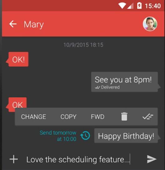 <strong><strong>I MORGEN:</strong></strong> Har noen bursdag i morgen kan du fint komponere meldingen i dag med Textra.